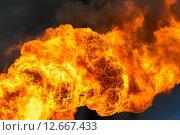 Купить «Пламя на фоне темного неба», фото № 12667433, снято 4 июня 2015 г. (c) Икан Леонид / Фотобанк Лори