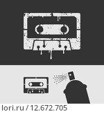 Купить «Аудиокассета. Иллюстрация», иллюстрация № 12672705 (c) Евгений Бакал / Фотобанк Лори