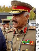 Мохаммад Аль-Хадр - начальник Генштаба вооруженных сил Кувейта, генерал-лейтенант (2015 год). Редакционное фото, фотограф Татьяна Глухова / Фотобанк Лори