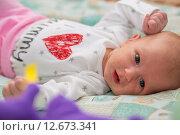 Купить «Гормональная сыпь у новорожденного», фото № 12673341, снято 14 января 2015 г. (c) Анастасия Улитко / Фотобанк Лори
