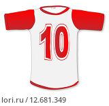 Купить «Number Ten T Shirt», иллюстрация № 12681349 (c) PantherMedia / Фотобанк Лори