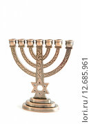 Купить «Hanukkah menorah», фото № 12685961, снято 25 февраля 2018 г. (c) PantherMedia / Фотобанк Лори