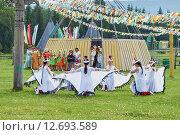 Купить «Танец стерхов. Крылья», фото № 12693589, снято 21 июня 2015 г. (c) Роман Фомин / Фотобанк Лори