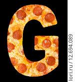 Купить «Пицца в виде букв латинского алфавита», фото № 12694089, снято 9 сентября 2010 г. (c) Александр Подшивалов / Фотобанк Лори