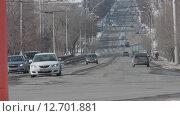 Зимняя дорога в сером городе (2015 год). Редакционное видео, видеограф Алексей Жарков / Фотобанк Лори