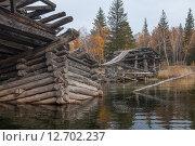 Разрушенный мост на реке Баргузин (2014 год). Редакционное фото, фотограф Илья Ордовский-Танаевский / Фотобанк Лори