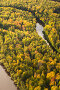 Вид сверху на осенний лес и реку, фото № 12704313, снято 6 сентября 2015 г. (c) Владимир Мельников / Фотобанк Лори