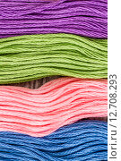 Купить «Multicolor Threads», фото № 12708293, снято 10 декабря 2018 г. (c) PantherMedia / Фотобанк Лори