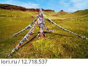 Столб с ленточками. Стоковое фото, фотограф Светлана Швенк / Фотобанк Лори