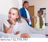 Купить «First amorousness: girl and couple of kids apart», фото № 12719797, снято 17 июня 2019 г. (c) Яков Филимонов / Фотобанк Лори