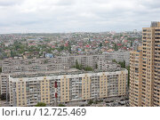 Купить «Волгоград, панорама с видом на город с высотного здания», эксклюзивное фото № 12725469, снято 8 мая 2015 г. (c) Дмитрий Неумоин / Фотобанк Лори
