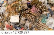 Купить «Огромная куча бытового мусора с костями на полигоне на Украине», видеоролик № 12729897, снято 14 сентября 2015 г. (c) Владимир Кравченко / Фотобанк Лори