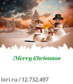 Купить «Composite image of merry christmas», фото № 12732497, снято 16 июня 2019 г. (c) Wavebreak Media / Фотобанк Лори