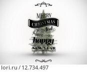 Купить «Composite image of logo wishing a merry christmas», фото № 12734497, снято 16 июня 2019 г. (c) Wavebreak Media / Фотобанк Лори