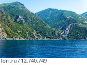 Купить «Симонопетра, гора Афон», фото № 12740749, снято 5 июня 2009 г. (c) Ростислав Агеев / Фотобанк Лори