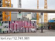 Berlin, Germany, construction site of the Upper West skyscraper (2014 год). Редакционное фото, агентство Caro Photoagency / Фотобанк Лори
