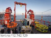 Kiel, Germany, -Open Ship- on the new research vessel -Sonne- at Kieler Ostseekai (2014 год). Редакционное фото, агентство Caro Photoagency / Фотобанк Лори