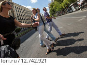 Купить «Madrid, Spain, Street Scene», фото № 12742921, снято 8 сентября 2014 г. (c) Caro Photoagency / Фотобанк Лори