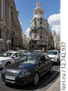 Купить «Madrid, Spain, the Edificio Grassy», фото № 12742937, снято 8 сентября 2014 г. (c) Caro Photoagency / Фотобанк Лори