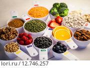 Купить «Portion cups of healthy ingredients», фото № 12746257, снято 1 января 2008 г. (c) Wavebreak Media / Фотобанк Лори