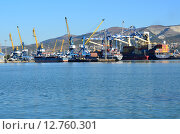 Купить «Новороссийский морской торговый порт», эксклюзивное фото № 12760301, снято 31 августа 2015 г. (c) Наталья Горкина / Фотобанк Лори