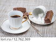 Купить «Кофейные чашки на столе», фото № 12762369, снято 16 сентября 2015 г. (c) Алёшина Оксана / Фотобанк Лори