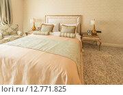 Купить «Bedroom room in modern style», фото № 12771825, снято 24 марта 2015 г. (c) Elnur / Фотобанк Лори