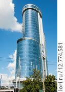 Купить «Здание бизнес-холла Бовид в г. Челябинск-2», фото № 12774581, снято 13 августа 2015 г. (c) Дмитрий Шульгин / Фотобанк Лори