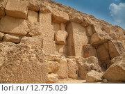 Купить «Детальное изображение стены египетской пирамиды», фото № 12775029, снято 17 сентября 2014 г. (c) Сосенушкин Дмитрий Александрович / Фотобанк Лори