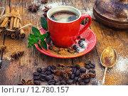 Купить «Чашка кофе», фото № 12780157, снято 30 сентября 2015 г. (c) Николай Лунев / Фотобанк Лори