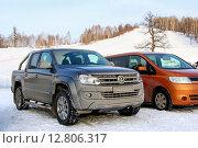 Купить «Volkswagen Amarok», фото № 12806317, снято 31 декабря 2011 г. (c) Art Konovalov / Фотобанк Лори