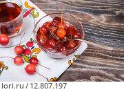Купить «Варенье из райских яблок и чай», фото № 12807197, снято 27 сентября 2015 г. (c) Алёшина Оксана / Фотобанк Лори