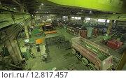 Купить «Машинное отделение завода», видеоролик № 12817457, снято 6 октября 2015 г. (c) Алексей Жарков / Фотобанк Лори