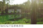 Купить «Пруд в парке», видеоролик № 12818513, снято 6 октября 2015 г. (c) Потийко Сергей / Фотобанк Лори
