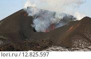 Купить «Извержение вулкана Плоский Толбачик на Камчатке», видеоролик № 12825597, снято 2 февраля 2013 г. (c) А. А. Пирагис / Фотобанк Лори