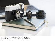 Купить «photo camera», фото № 12833505, снято 20 ноября 2018 г. (c) PantherMedia / Фотобанк Лори