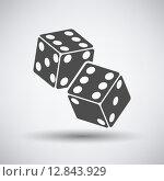 Купить «Craps Cubes Icon», иллюстрация № 12843929 (c) PantherMedia / Фотобанк Лори
