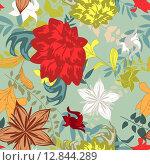 Купить «Seamless floral pattern», иллюстрация № 12844289 (c) PantherMedia / Фотобанк Лори