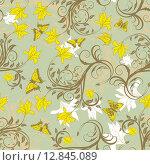 Купить «seamless floral pattern», иллюстрация № 12845089 (c) PantherMedia / Фотобанк Лори