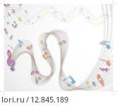 Купить «Musical note staff», иллюстрация № 12845189 (c) PantherMedia / Фотобанк Лори