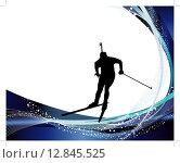 Купить «biathlon athlete», иллюстрация № 12845525 (c) PantherMedia / Фотобанк Лори