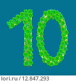 Купить «Figure ten 10 anniversary celebration tropical island», фото № 12847293, снято 28 марта 2020 г. (c) PantherMedia / Фотобанк Лори