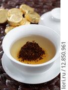 Купить «Pu-erh tea», фото № 12850961, снято 13 сентября 2015 г. (c) Stockphoto / Фотобанк Лори
