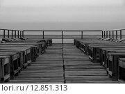 Пляжные лежаки. Стоковое фото, фотограф Максим Сиротинин / Фотобанк Лори