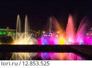 Купить «Шоу танцующих фонтанов в центре Батуми. Грузия», фото № 12853525, снято 10 июля 2013 г. (c) Евгений Ткачёв / Фотобанк Лори