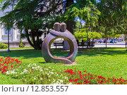 Купить «Скульптура вечная любовь в парке музея изобразительных искусств Батуми. Грузия», фото № 12853557, снято 10 июля 2013 г. (c) Евгений Ткачёв / Фотобанк Лори