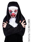 Купить «Scary nun in halloween concept», фото № 12861089, снято 2 апреля 2013 г. (c) Elnur / Фотобанк Лори