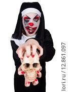 Купить «Scary nun in halloween concept», фото № 12861097, снято 2 апреля 2013 г. (c) Elnur / Фотобанк Лори
