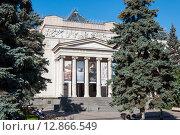 Купить «MOSCOW, RUSSIA - 21.09.2015. The Pushkin Museum of Fine Arts», фото № 12866549, снято 21 сентября 2015 г. (c) Володина Ольга / Фотобанк Лори