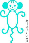 Обезьянка. Стоковая иллюстрация, иллюстратор Буркина Светлана / Фотобанк Лори